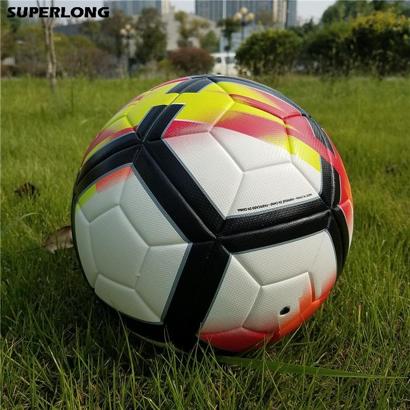 2018 Premier PU Football Soccer Ball Anti slip Match Team Training Game Balls Teenager Kids Goal