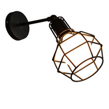 loft vintage retro walll lights lamps e27 cage bar restaurant bedroom bedside cafe aisle pub club hall stair light sconces bra hall creative pendant lamps za light the restaurant in front of the hotel pendant lights cafe bar small aisle entrance