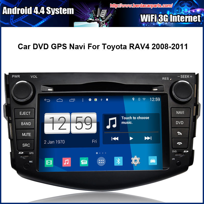 Android 4.4.4 1024*600 Capacitive Screen 1.6G CPU Quad Core Car DVD GPS For Toyota RAV4 2008-2011