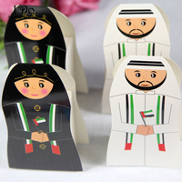 Free Shipping 5 Pairs UAE Wedding Favor Boxes Couple Wedding Candy Box Casamento Wedding Favors And Gifts Event & Party Supplies