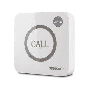 Image 3 - Singcallワイヤレス通話システム、コールベル、ビッグ触れることができる2ボタン防水機能、コールとキャンセルキー、APE520C