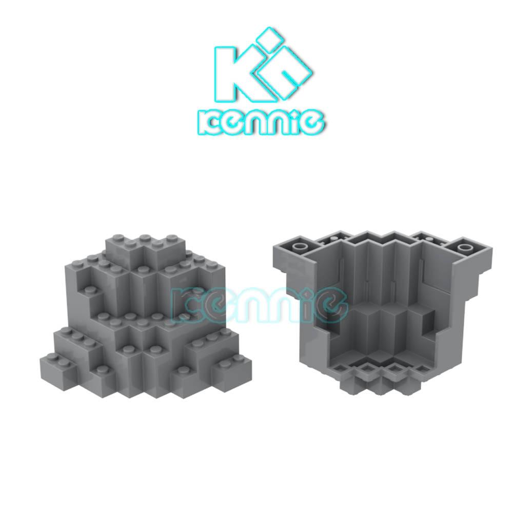 20pcs lot Kennie Building Blocks DIY stone mountain parts Compatible with NO 23996 Mountain Brick 8X8X6