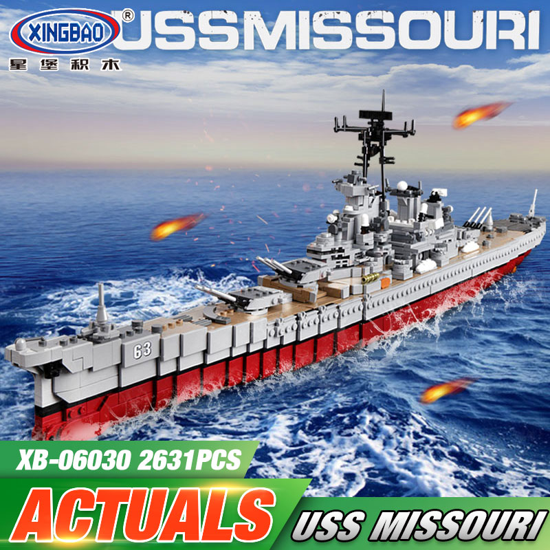 DHL XINGBAO 06030 Military Series The Missouri Battleship Set Building Blocks Compatible with New Star Destroyer