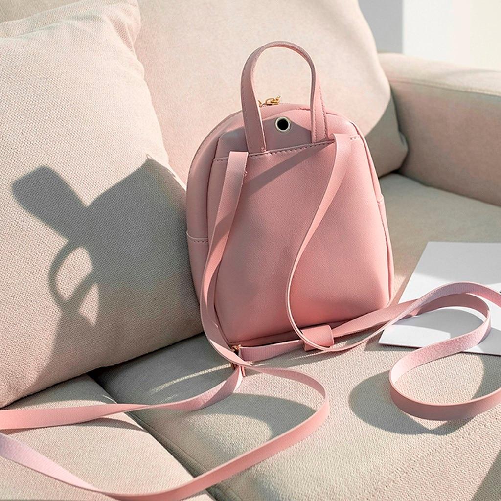 HTB1YiiqNcfpK1RjSZFOq6y6nFXa7 Convenient fashion Travel Fashion Lady Shoulders Small Backpack Letter Purse Mobile Phone mochilas Canta