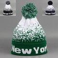 2015 Nueva Moda de Nueva York Sombreros para Hombres y Mujeres Capo Gorros Sombrero de Invierno Cálido de esquí Gorros Skullies Toucas Bola tapas