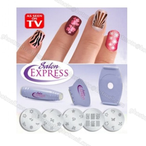 New free shipping nail art stamping manicure design kit nail art new free shipping nail art stamping manicure design kit nail art polish decorate diy tool your nails like a pro as seen on tv in nail art equipment from prinsesfo Image collections