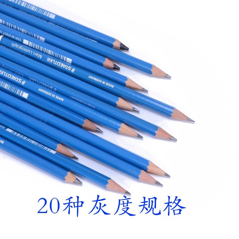 1 pc blue barrel staedtler mars lumograph drawing and sketching