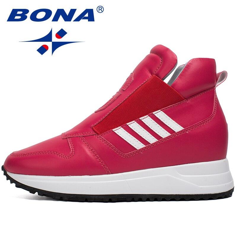 BONA nouveaux classiques Style femmes chaussures de marche élastique bande baskets Outdor Jogging chaussures de sport confortable rapide livraison gratuite