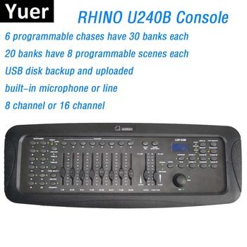 цена на Factory Sales New RHINO 240B  DMX Controller Stage Lighting DJ Equipment DMX Console Perfect For LED Par Moving Head Lights