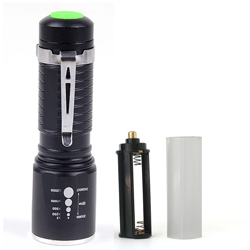 Z90 LED mini Flashlight XM-L T6 3800LM Aluminum Waterproof Zoomable flash light Torch 5modes for 18650 Battery or AAA led l t6 flashlight 8000lumens torch 5modes tactical flashlight zoomable flash light with usb battery charger