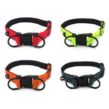 Reflective Night Safety Dog Collar Nylon Large Pet Necklace With Adjustable Buckle Dogs Collars Pets Supplies HG99