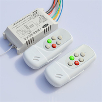 Retail Intelligent Dual Remote Single Way Port ON OFF Digital Wireless Remote Control Switch 220V Controller