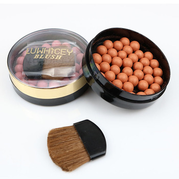 1pc Makeup Face Matte Blusher Ball 3 In 1 Blush Eyeshadow Contour Cosmetics Powder Balls 8 Colors Maquiagem