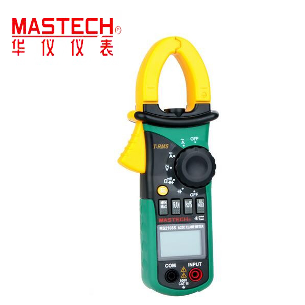 MS2108S True RMS 6600 counts Digital AC DC Current 600A Clamp Meter Multimeter Capacitance Frequency Inrush Tester aimometer ms2108 true rms ac dc current clamp meter 6600 counts 600a 600v