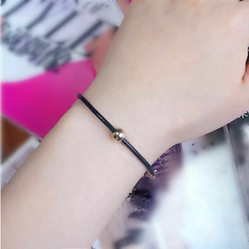 J030 Brand 2019 Women charm Bracelet Retro Vintage Lady Handmade Jewelry Black Gothic Beads Bracelet necklace