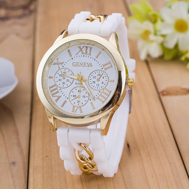 8f26a253e5a Relogio Feminino Fashion Casual Roman Numerals Geneva Quartz Watch Women  Silicone braceiet Watches Chasy Zhenskiye Hot