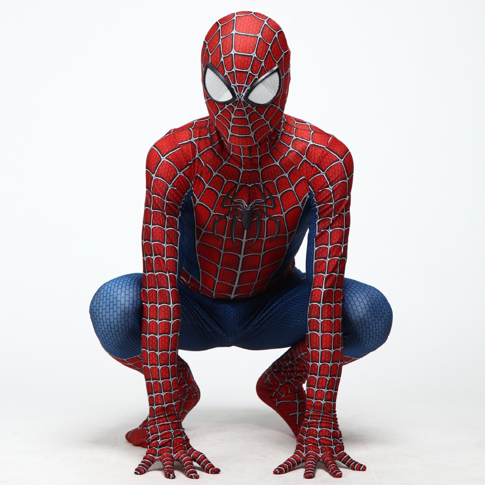 adult child Halloween superhero Raimi Spiderman Cosplay Clothes bodytights performance costume zentai kids bodysuit suit JQ-1330