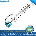 Ao ar livre Antena Yagi 1710-2170 mhz GSM 1800 mhz 1900 mhz 3G Sinal de Telefone Celular Antena 8dBi antena Externa Direcção Da Antena de celular