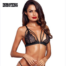 32e07070c0d INMOTENG Bustier Bra Camis Summer Black Lace Wild Obsession Seamless Bralette  Crop Top Lingerie brasier mujer