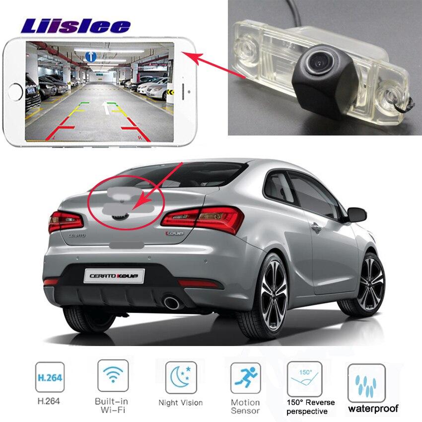 LiisLee pour Hyundai Sonata YF i45 2011 ~ 2014 pour KIA K3 Cerato Forte 2013 ~ 2015 caméra sans fil de sauvegarde de Vision nocturne de voiture