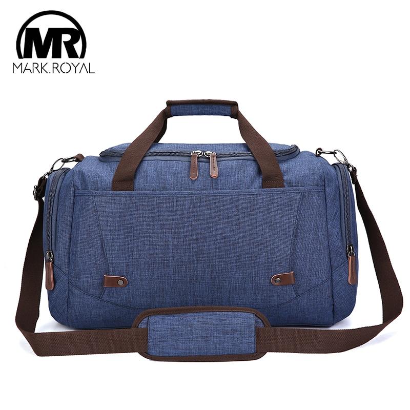 MARKROYAL Waterproof Travel Men Bag Large Men Travel Duffel Bag Capacity Weekend Bags Carry On Luggage Water Repellent Sport Bag