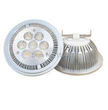 Free Shipping Dimmable 7*1W LED AR111 light GU10 /E27/G53 high lumens Bridgelux power Led Bulb Light AC85-265V