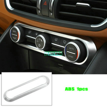fit For Alfa Romeo Giulia Stelvio 2017 Car-styling ABS Chrome Center Air Conditioning Adjustment Frame Trim Stickers Accessories