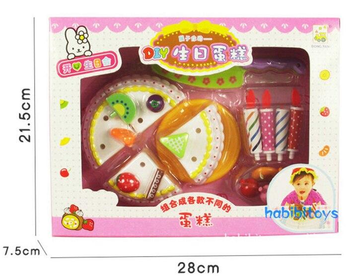 DIY Children play house toy Kitchen Cookware Set fruit birthday cake