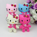 Hot sale H-8cm  mix 4color lovely Mini doll cat ,toys for cartoon bouquet, plush toy cell phone 40pcs/lot