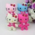 Venta caliente mezcla H-8cm 4 colores precioso Mini muñeca del gato, juguetes de dibujos animados ramo, teléfono celular de peluche de juguete 40 unids/lote