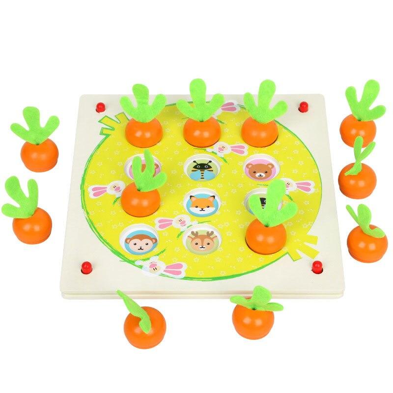 Деревянные головоломки 3D головоломки обучения разведки морковь памяти шахматы 3D головоломки деревянные игрушки для детей 2018 ME2864H