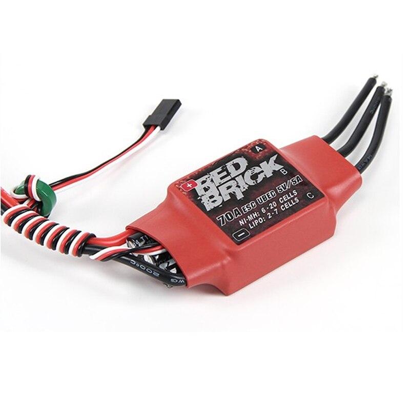 1 piezas pieza de ladrillo rojo 50A/70A/80A/100A/125A/200A sin escobillas ESC controlador de velocidad electrónico 5 V/3A 5 V/5A BEC para FPV Multicopter