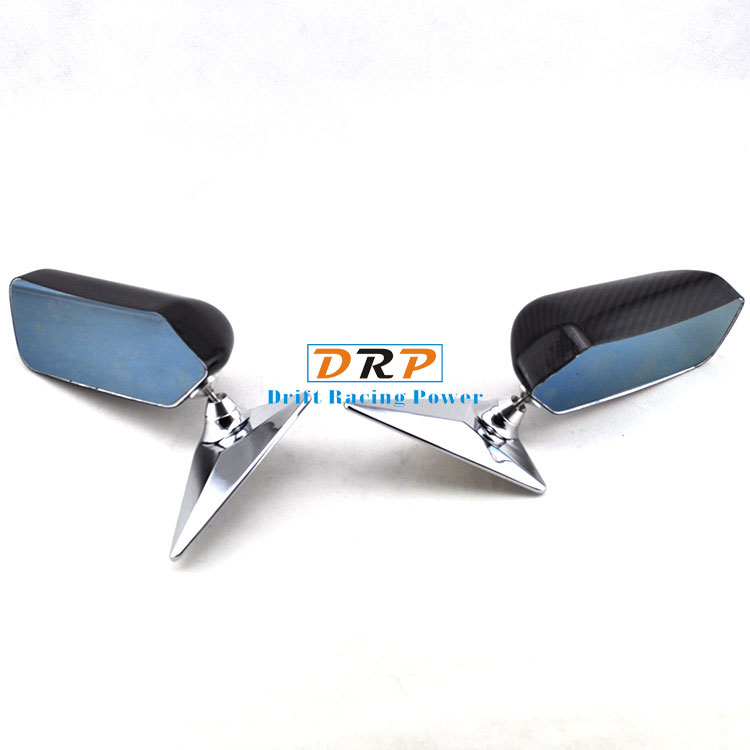 Racing Carbon Fiber Mirror Universal Car Rearview Mirror Car Left+Right Rearview Mirror Carbon Fiber Car Outside Wing Mirror