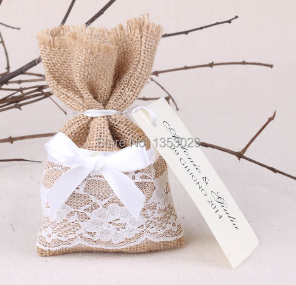 Free Shipping 50pcslot Size 4x65 Country Wedding Favors Bags