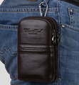 New Designer Men Cowhide Genuine Leather Fanny Waist Hook Bag Belt Bum Male Small Money Cell/Mobile Phone Cigarette Case Purse