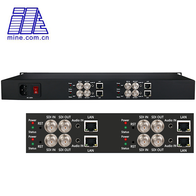 4 Channel SDI to IP Encoder H.265 / H.264 HD-SDI 3G-SDI Video Streaming Encoder for Live Broadcast