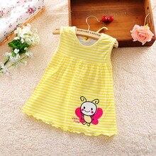 Г., Новое Стильное платье для малышей летние платья принцессы в разноцветную полоску для маленьких девочек одежда из хлопка для новорожденных девочек от 0 до 24 месяцев