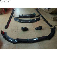 W218 CLS Carbon Fiber Front Bumper Lip Rear Diffuser Side Skirt Rear Spoiler For Mercedes Benz