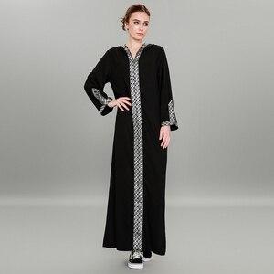Image 1 - Delle Donne di modo Musulmano Vestito Sexy Split Abaya Turco del Vestito Più Il Formato 5XL Patchwork Nero Hijab Dress Robe Musulmane