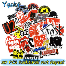 50 Pcs Rock & Roll Autocollants Punk Autocollant pour Ordinateur Portable Skateboard Moto Bagages De Voiture Vinyle Stickers Graffiti Étanche Autocollants