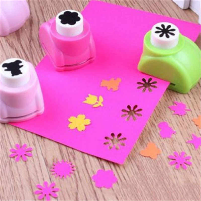 Baby 1PCS Drawing Toys Child 20 Styles Hole Punch Mini Printing Paper Hand Shaper Scrapbook Tag Card Craft DIY Punch Cutter Tool