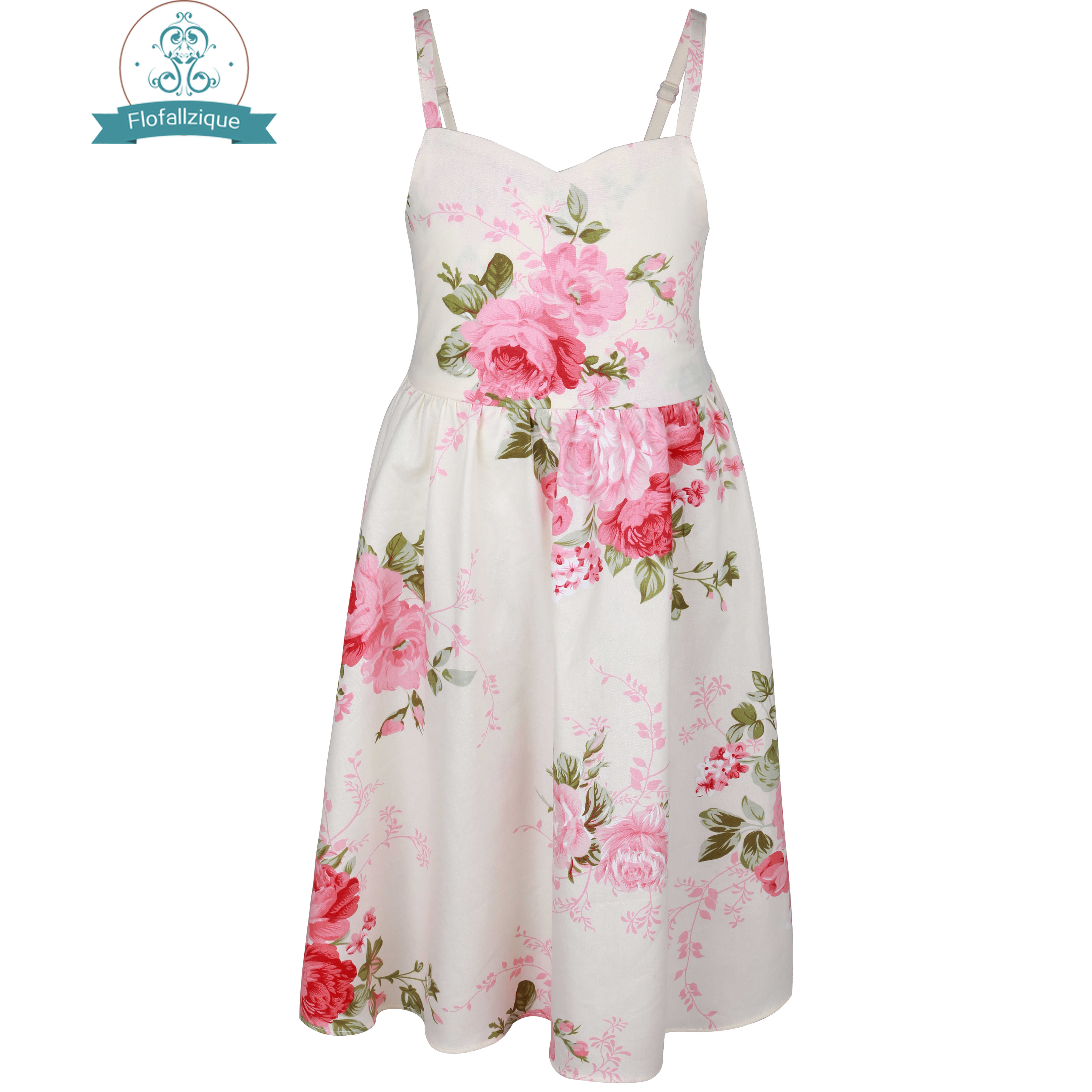 3b7128e43 Flofallzique Toddler Girls Tulle Christmas Dress Summer Vintage Floral  Party Princess kids dresses for girls clothes