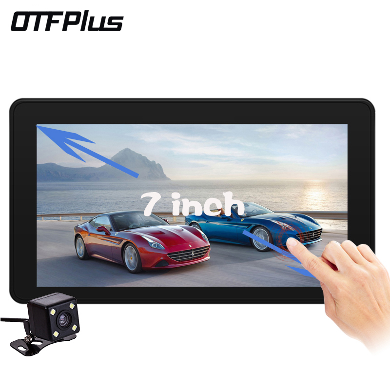 OTFPLUS New 7 inch Car DVR Camera Radar Detector Dual Lens GPS Navigation Android Free Map Car Video Camera Recorder BlackBox 2 7 inch r310 tft lcd dual 2 lens car dvr video recorder