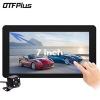 OTFPLUS New 7 Inch Car DVR Camera Radar Detector Dual Lens GPS Navigation Android Free Map