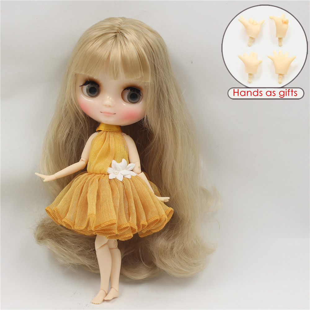 Middie Blythe Doll Brown Hair Jointed Body 20cm 2