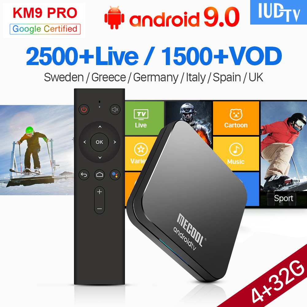 IP TV Spain Sweden UK Germany IPTV 1 Year KM9 Pro Android TV 9.0 USB3.0 Dual-Band WIFI BT spain Greek Germany IPTV Italian CodeIP TV Spain Sweden UK Germany IPTV 1 Year KM9 Pro Android TV 9.0 USB3.0 Dual-Band WIFI BT spain Greek Germany IPTV Italian Code