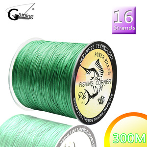 16 Strands 300M Braided Fishing Line Multicolor Super Power Japan Multifilament PE Braid Line Saltwater/Freshwater