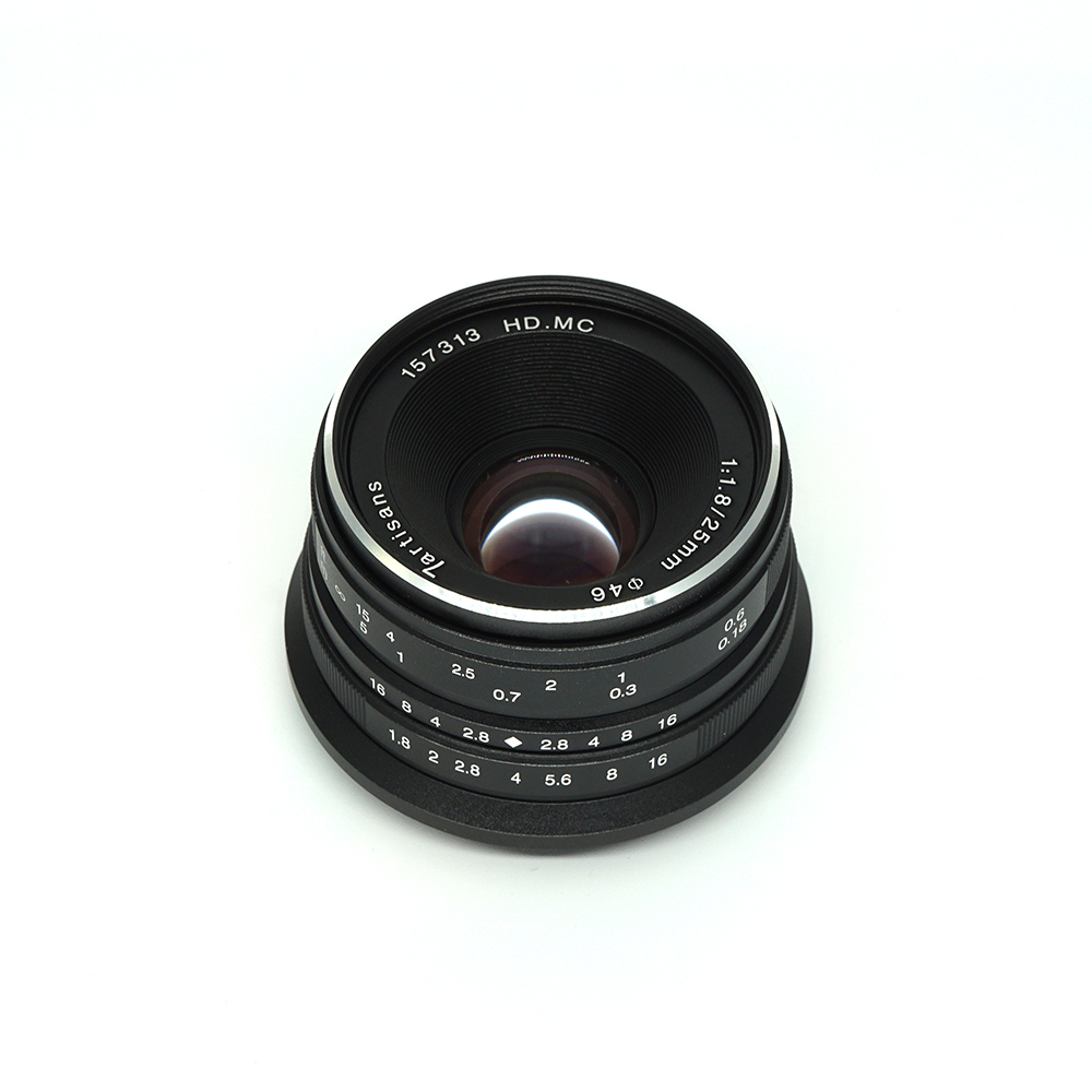 7artisans 25mm f1.8 Prime Lens to All Single Series for E Mount Canon EOS-M Mout Micro 4/3 Cameras A7 A7II A7R Free Shipping 7artisans 25mm f1 8 prime lens to all single series for e mount canon eos m mout micro 4 3 cameras a7 a7ii a7r free shipping