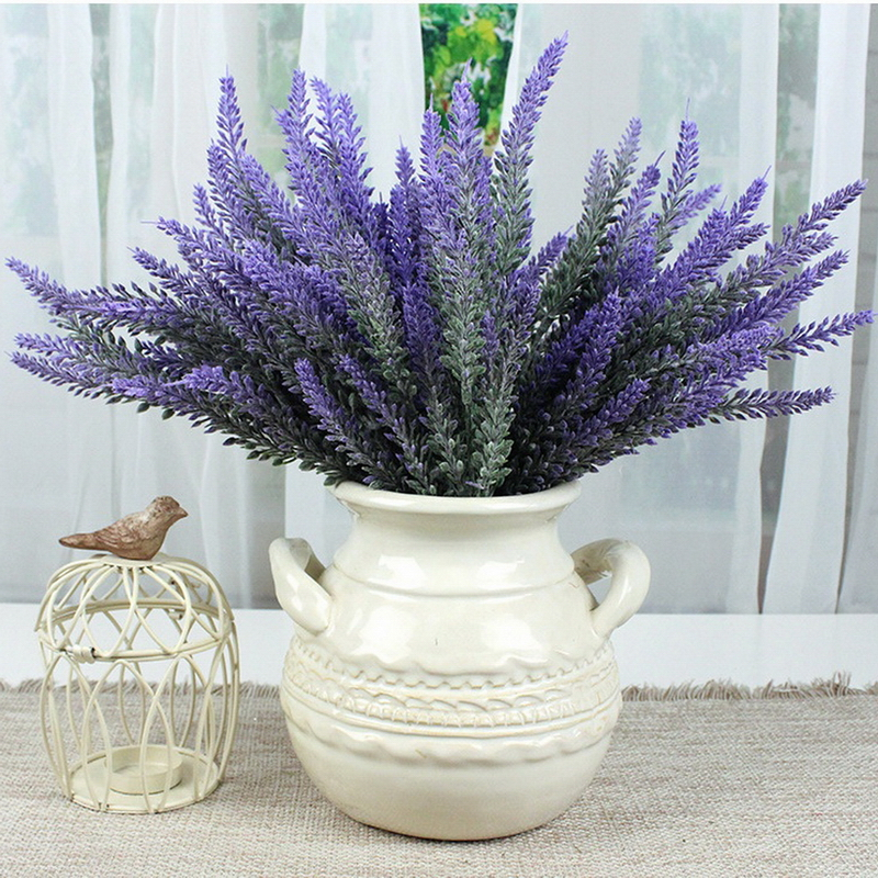 5pcs Artificial Flower Purple Lavender Bouquet For Home Decor And Wedding Decoration China Mainland
