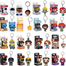 Funko POP Disney Alice Cheshire Ariel Fairy Tail Punto SI Pennywise sonic TINKER CAMPANA Keychain action Figure Giocattoli con la scatola(China)